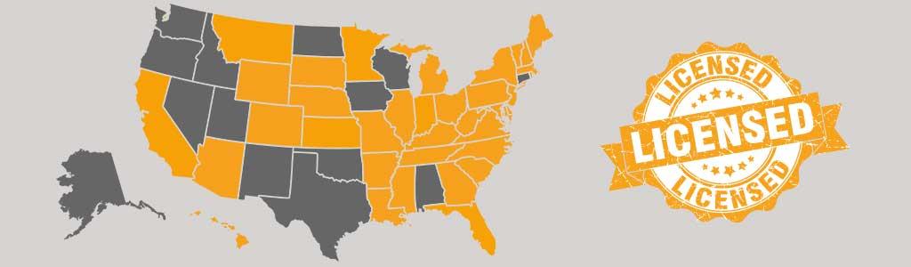Licensed States
